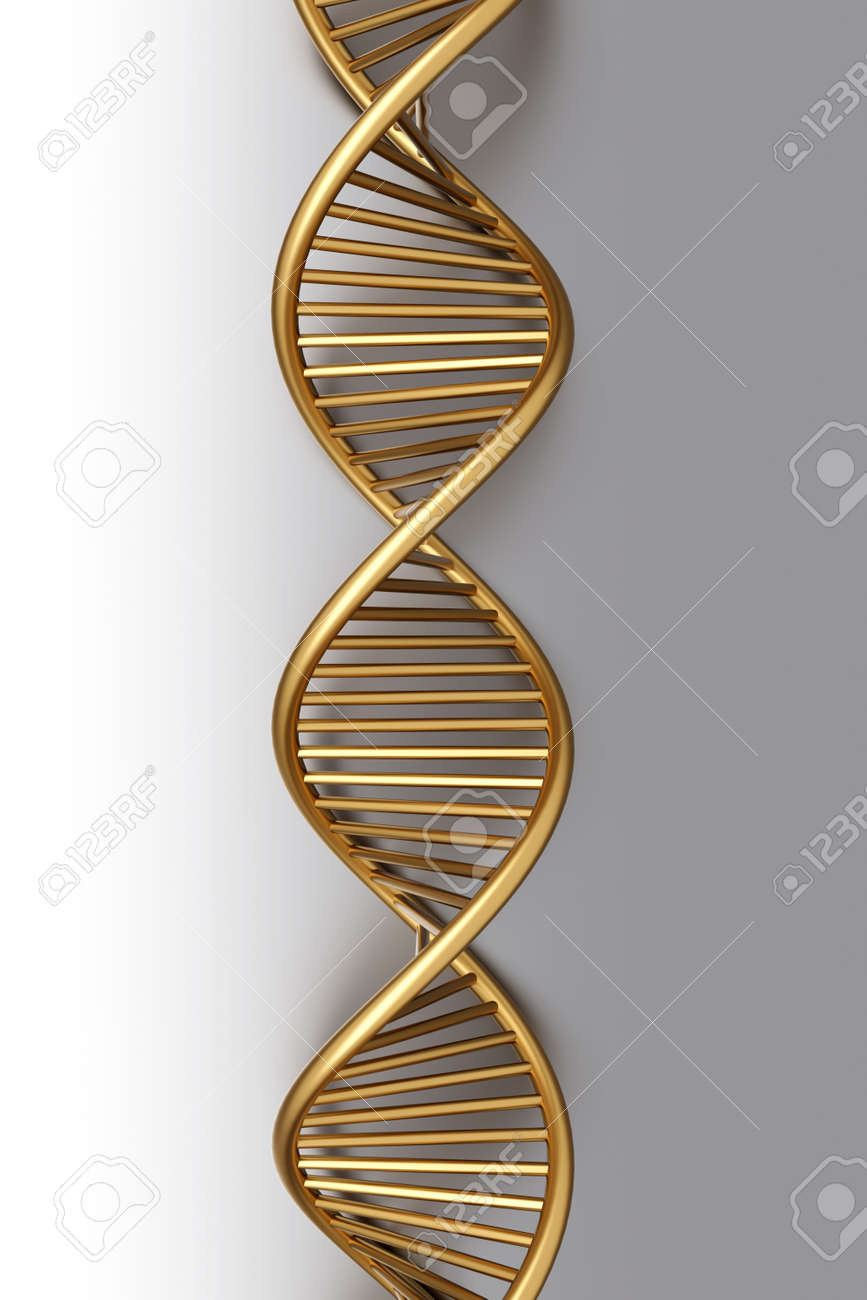 A symbolic DNA model. 3D rendered illustration. Stock Photo - 9955963