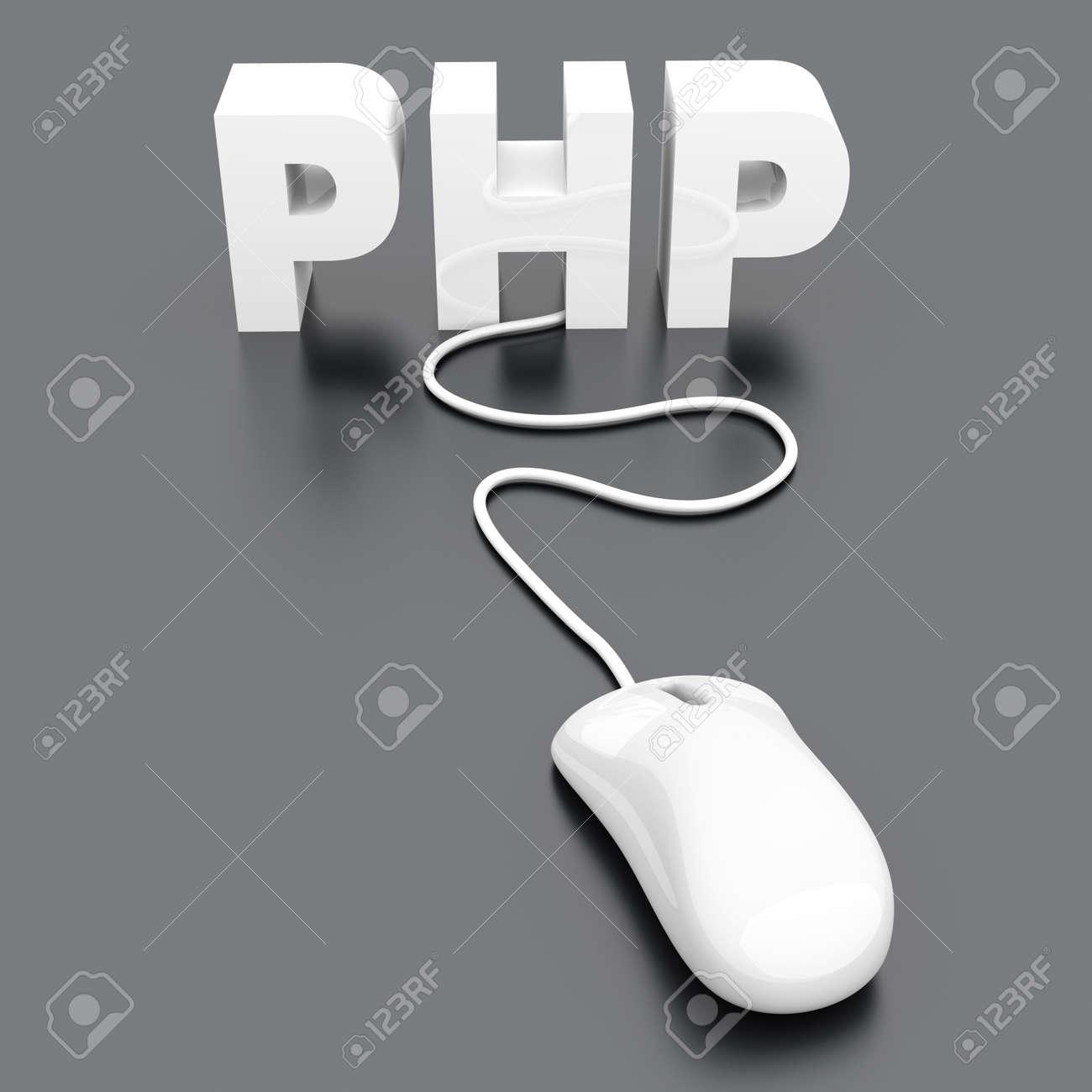 PHP click. 3D rendered Illustration. Stock Illustration - 10709923