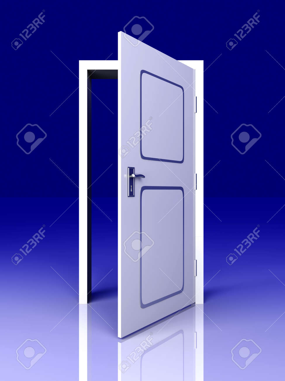 The Door is open for you    3D rendered Illustration Stock Illustration - 15556620