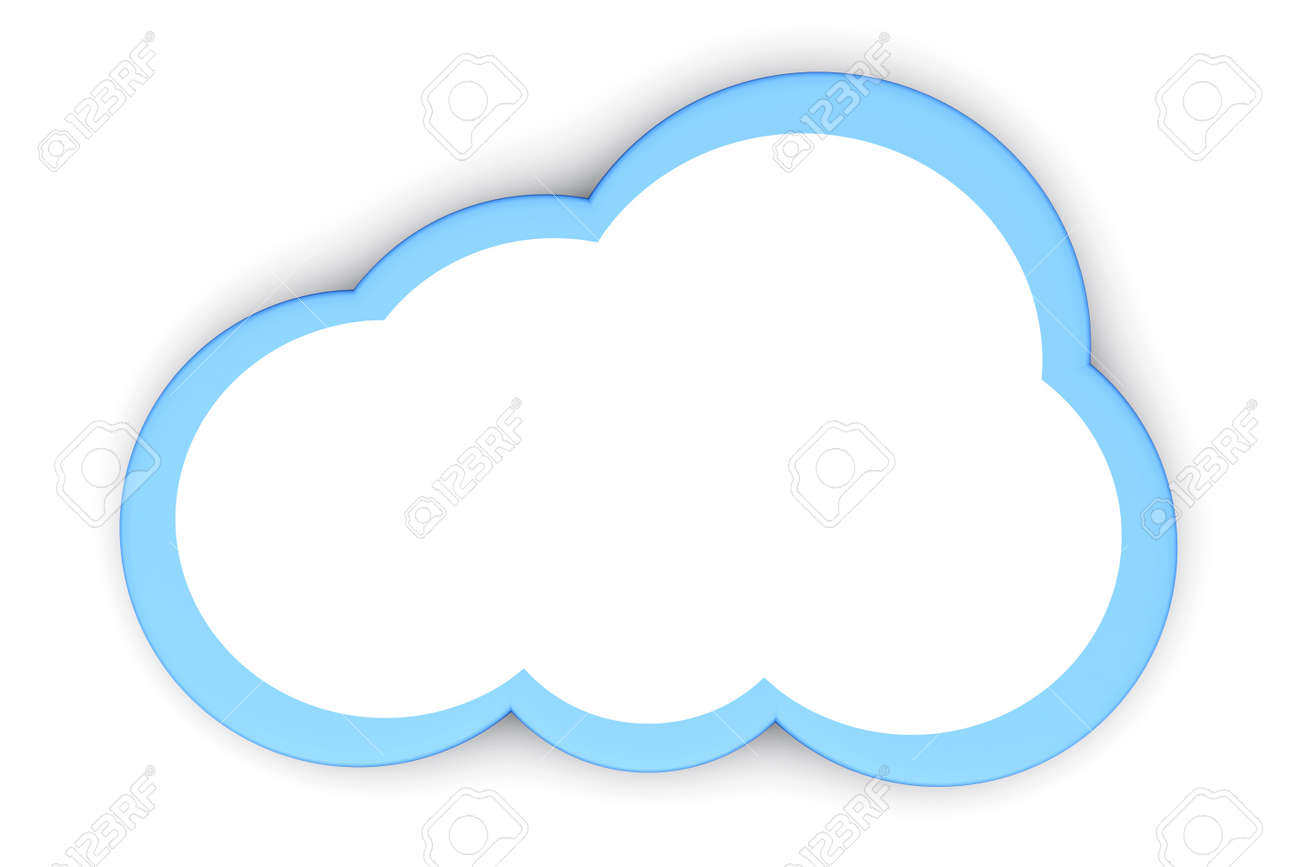A Cloud Symbol 3d Rendered Illustration Stock Photo Picture And