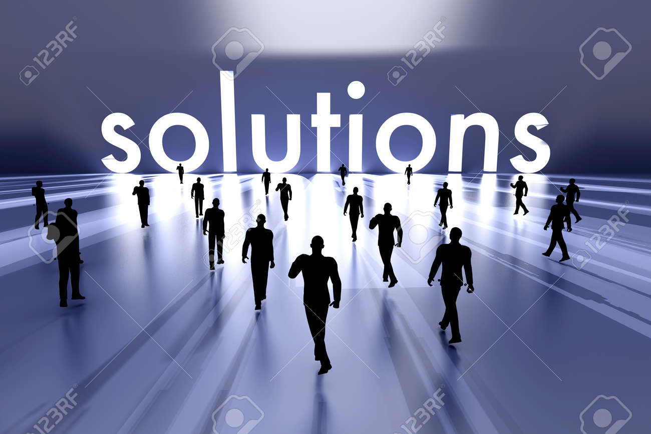 Walking towards the business solution  3D rendered Illustration Stock Photo - 17999512
