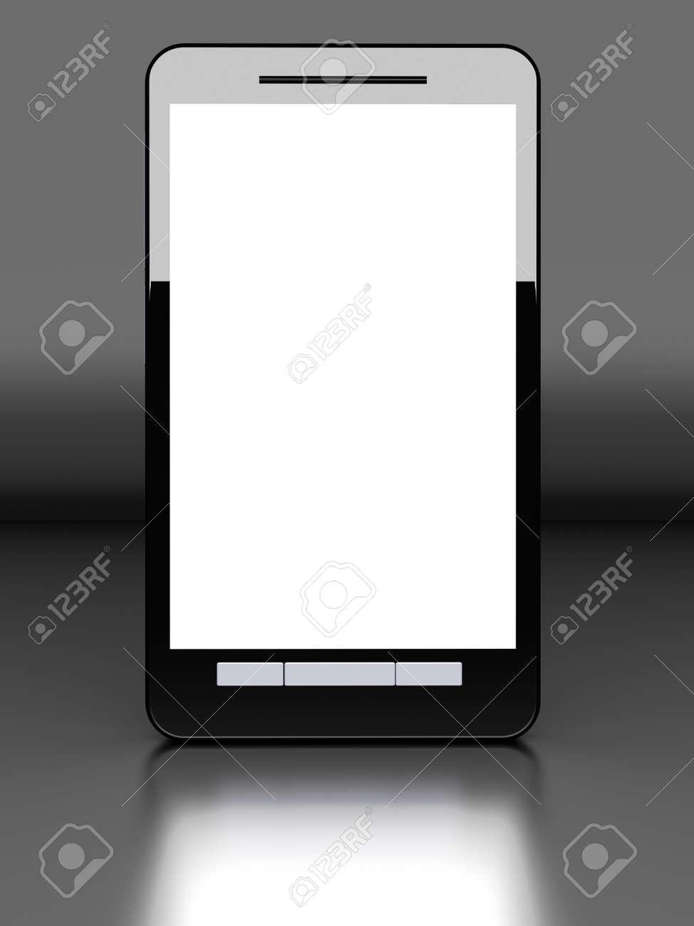 A modern Smartphone. 3D illustration. Stock Photo - 21471558