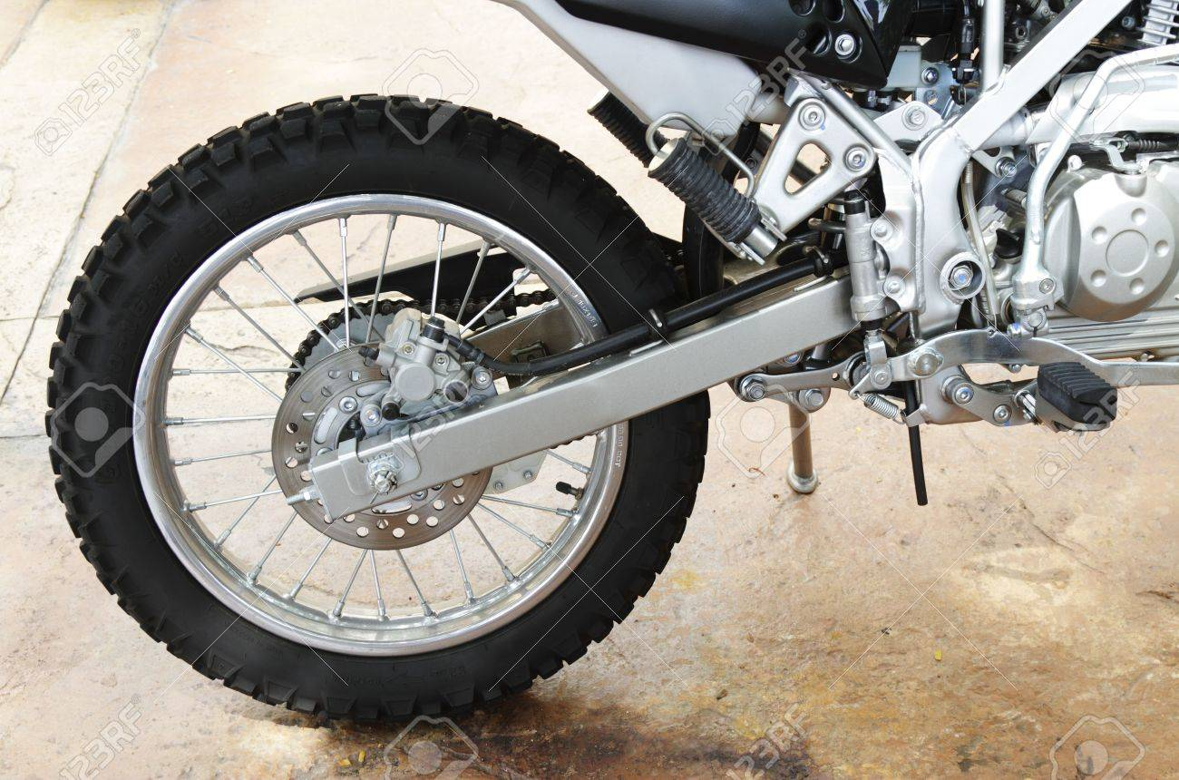 A side view of an off-road motorcycle swingarm Stock Photo - 6398631