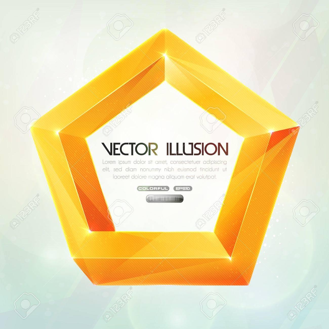 Impossible figure illusion Stock Vector - 13986363