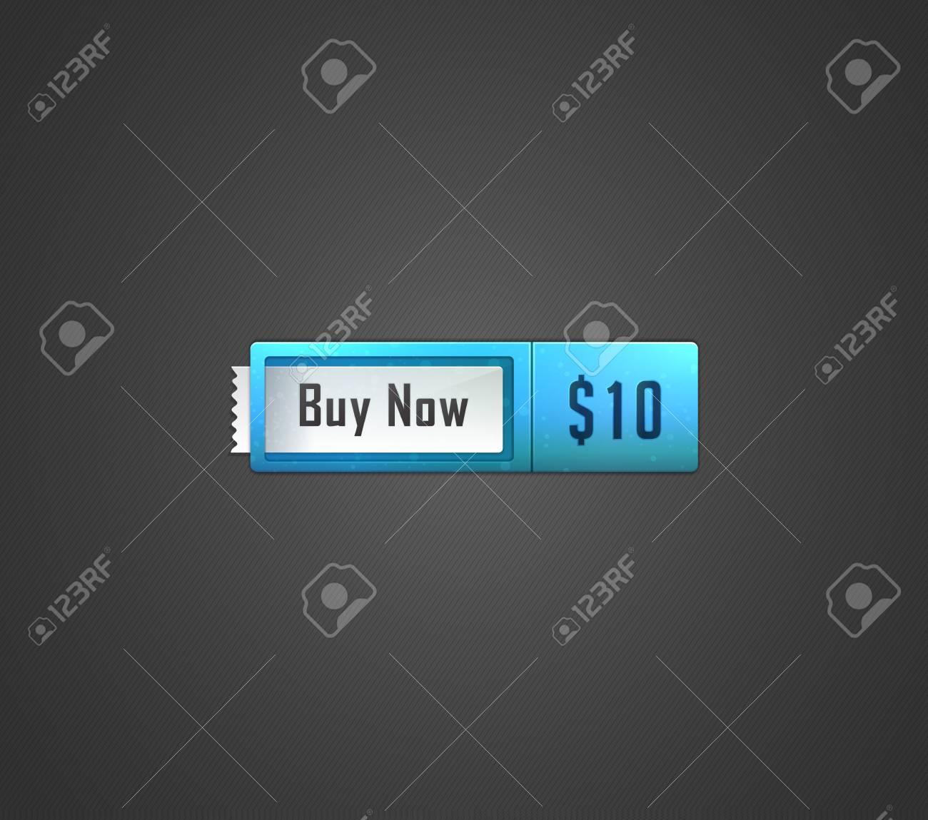 Buy now web button  Vector illustration Stock Vector - 14128225