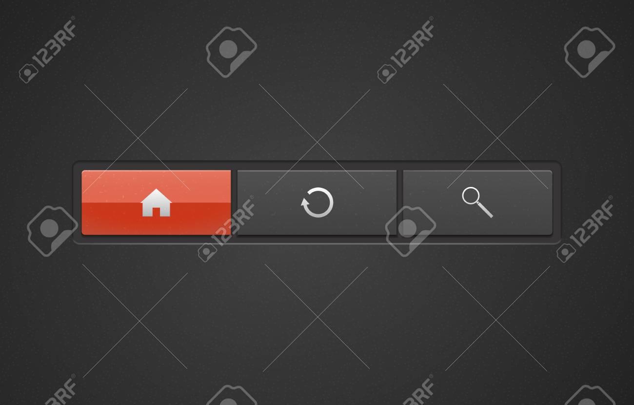Vector premium web buttons Stock Vector - 16856560