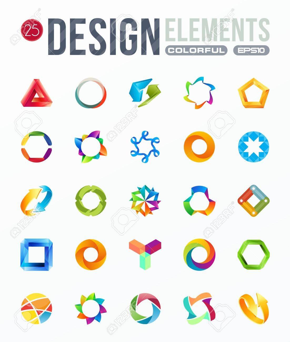 icon set  logo design elements Stock Vector - 19832030