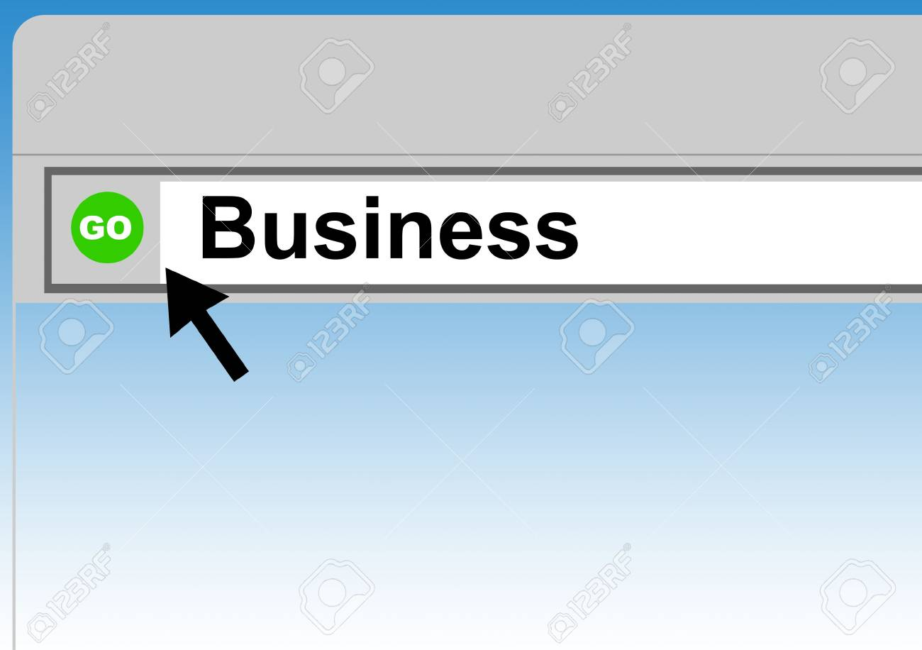 World Wide Web browser background with cursor arrow and word business. Stock Photo - 5095356