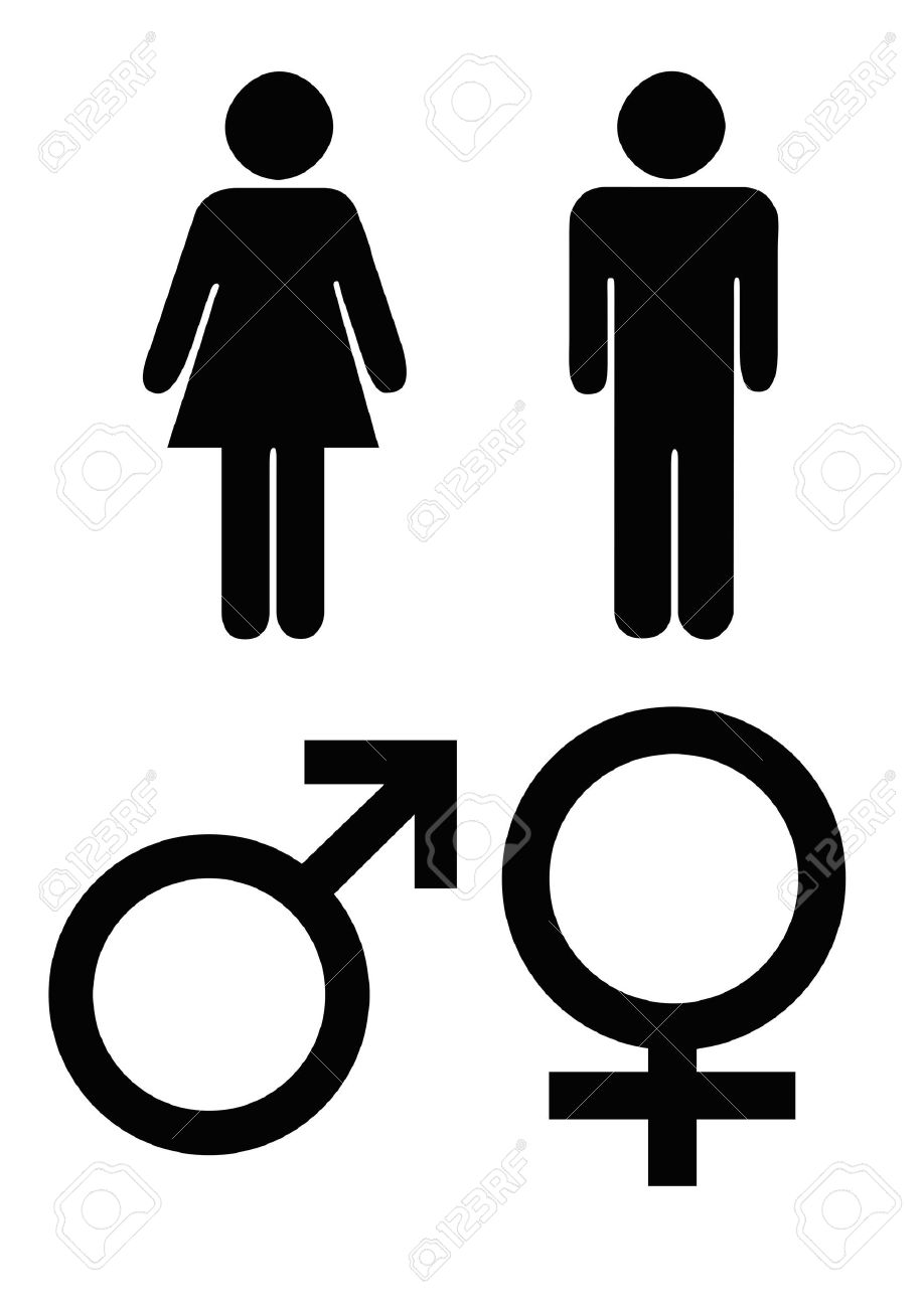 Symbols for female choice image symbol and sign ideas male and female gender symbols in black silhouette isolated male and female gender symbols in black buycottarizona