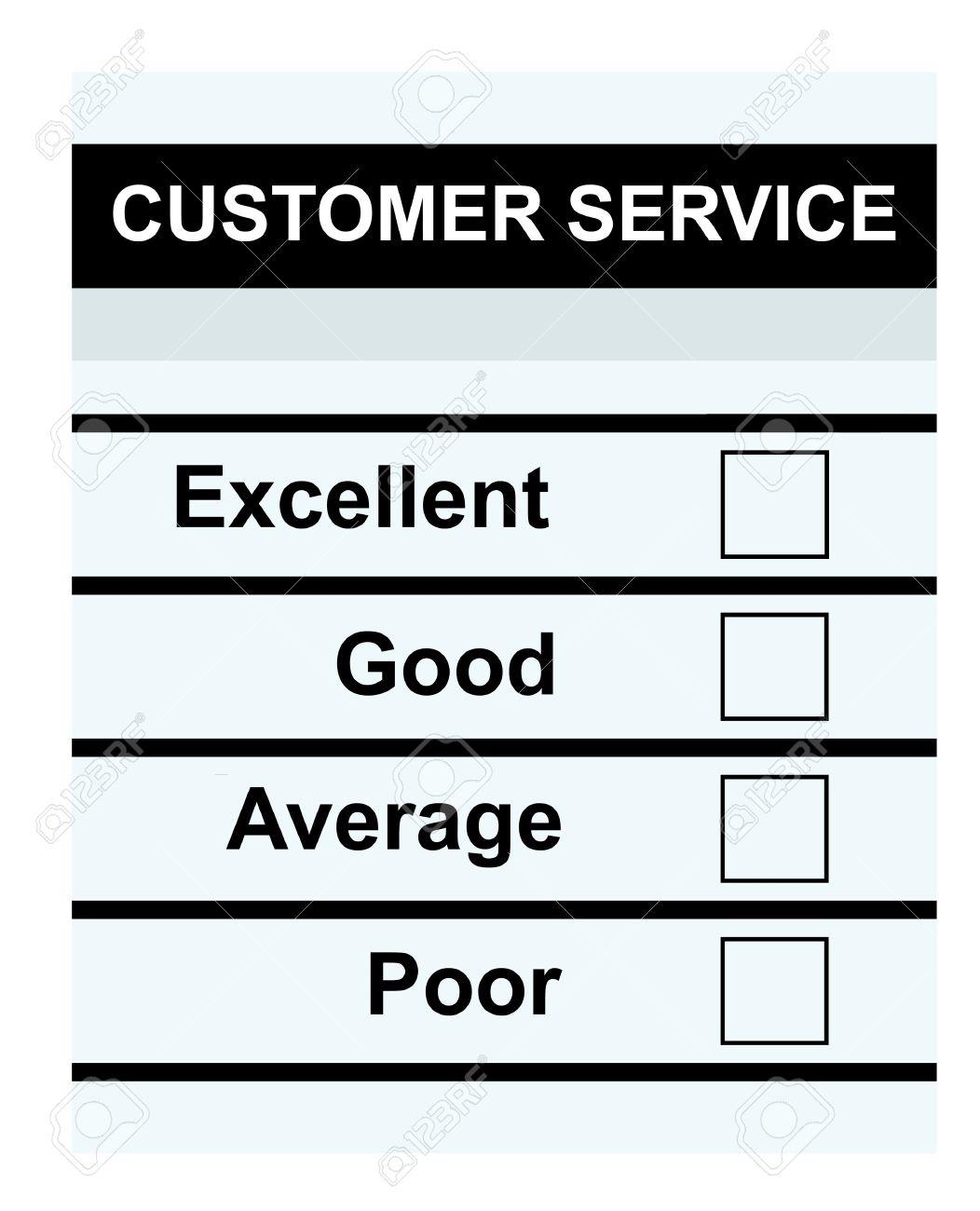 Blank Customer Service Feedback Form Isolated On White Background – Service Feedback Form