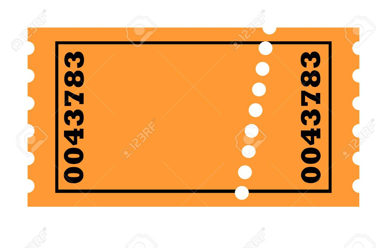 perforated ticket isolated on white background with copy space stock photo 5351128