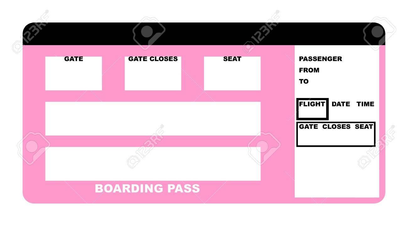 Illustration Leer Fluggesellschaft Boarding Pass Ticket Auf Weissen