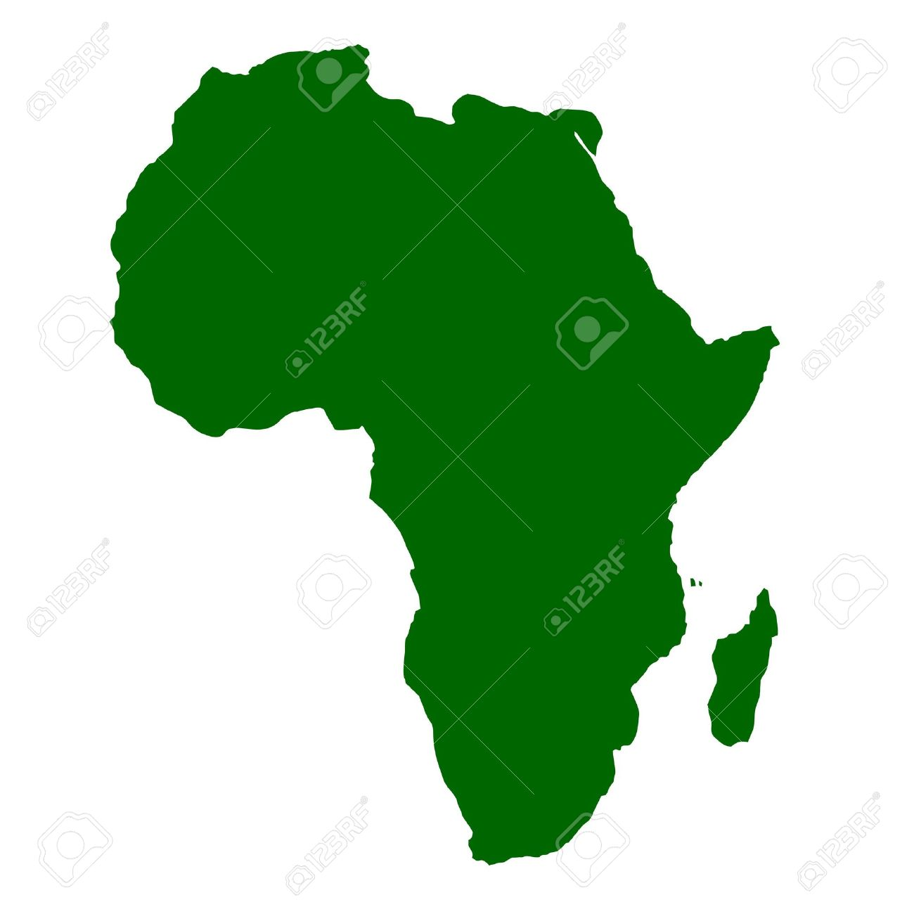 Outline Map Of Continent Of Africa Stock Photo   5800688