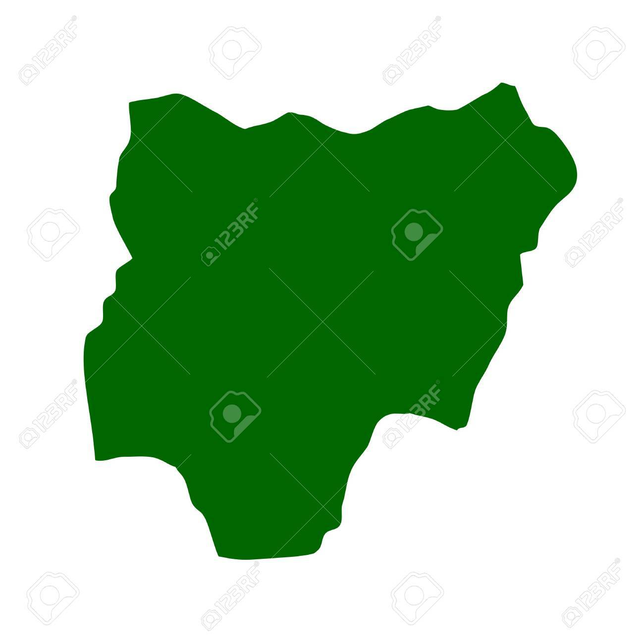Outline map of Nigeria Stock Photo - 5800729