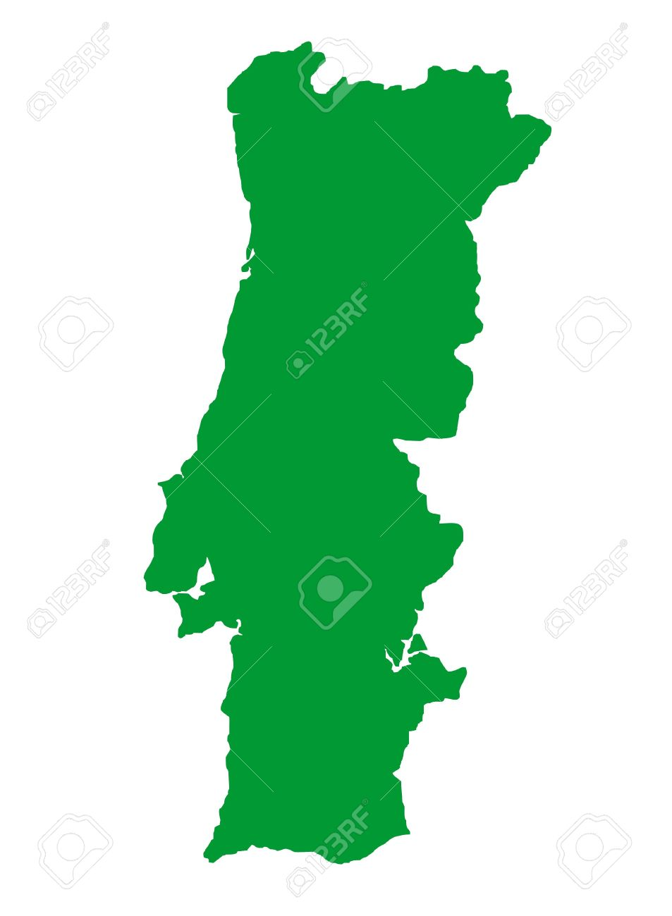 Outline Map Of Country Of Portugal In Black Isolated On White - Portugal map outline