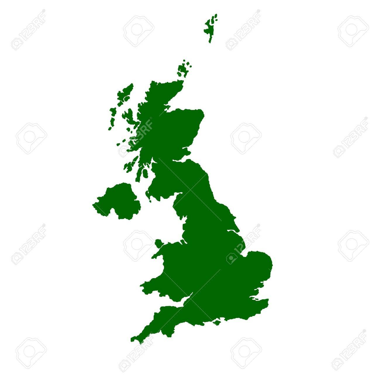 Map Of England Ireland Scotland Wales.Isolated Map Of United Kingdom Of England Scotland Wales And