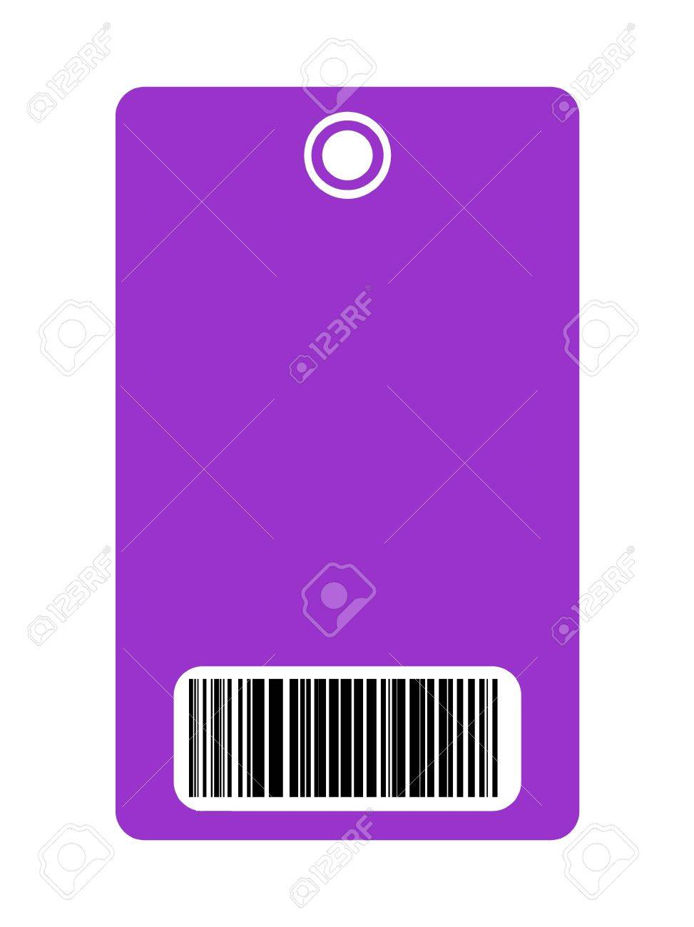 Closeup of blank security pass with bar code, isolated on white background. Stock Photo - 6270353