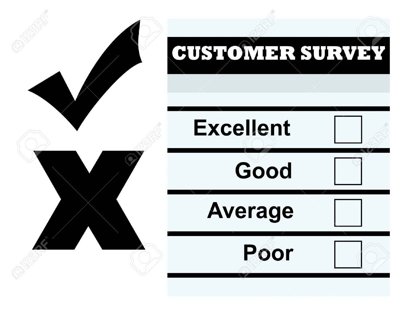 Blank Customer Service Feedback Form, Isolated On White Background ...