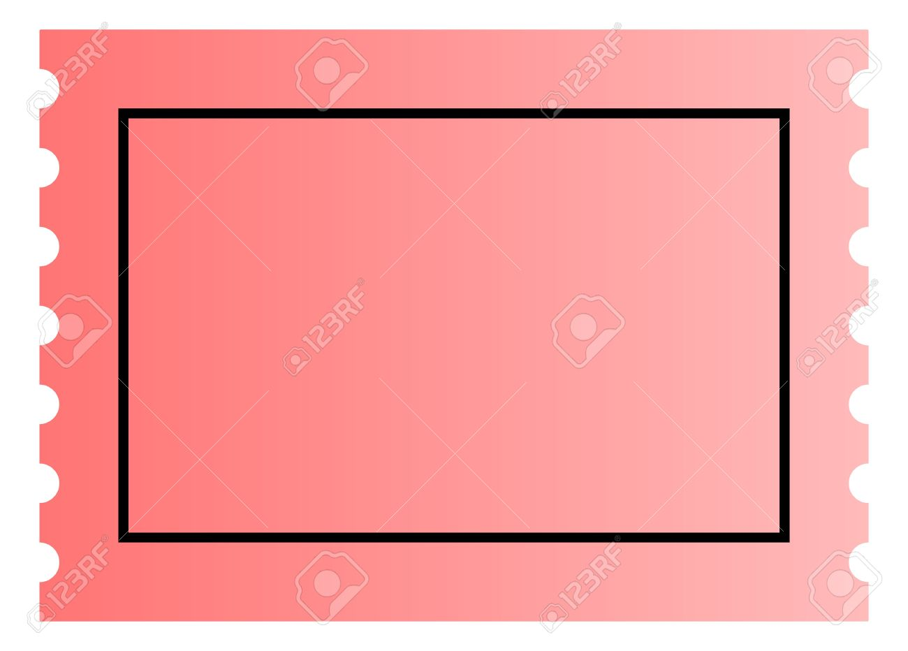 Blank Pink Ticket Template With Copy Space Isolated On White – Blank Ticket
