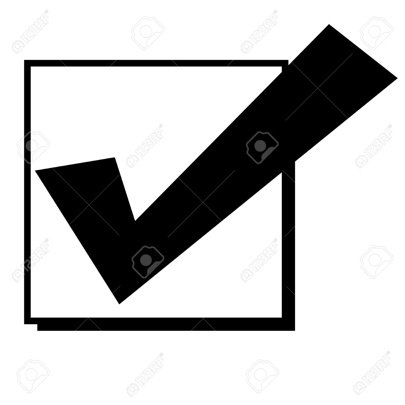 Black silhouetted tick or check mark in box isolated on white black silhouetted tick or check mark in box isolated on white background stock photo biocorpaavc Image collections