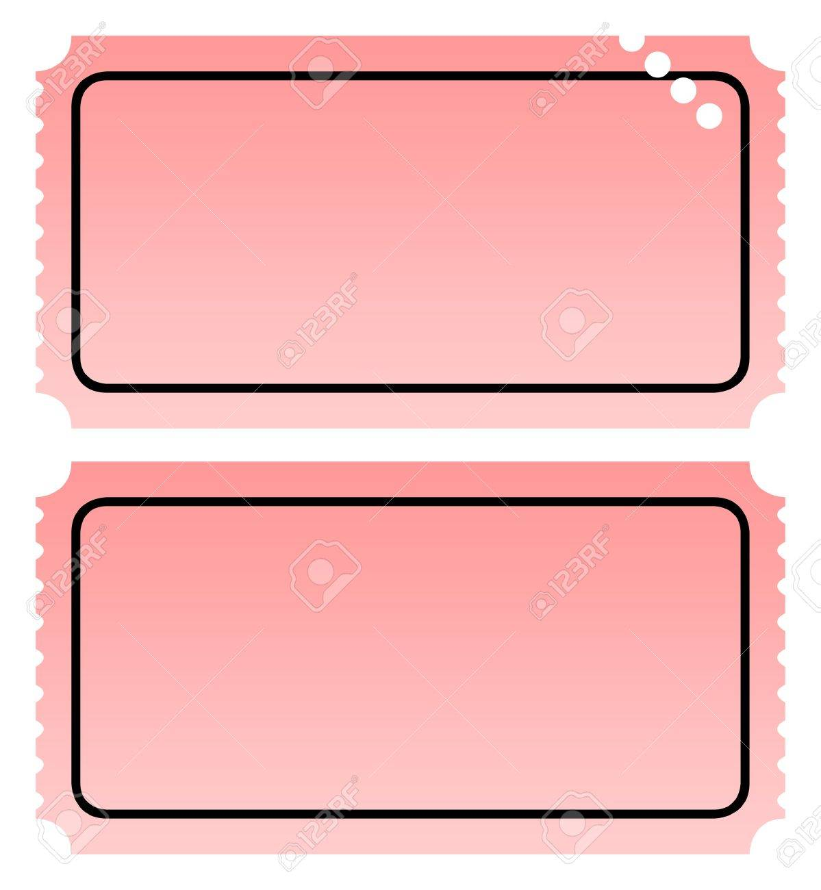 Two Blank Ticket One Punched Isolated On White Background With – Blank Ticket