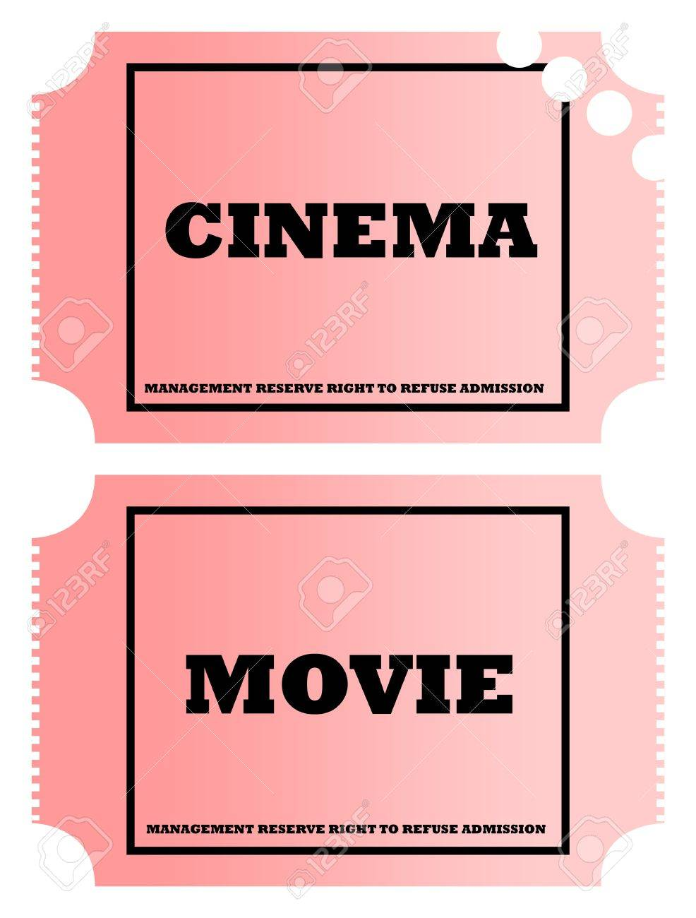 Cinema and movie tickets isolated on white background. Stock Photo - 6884222
