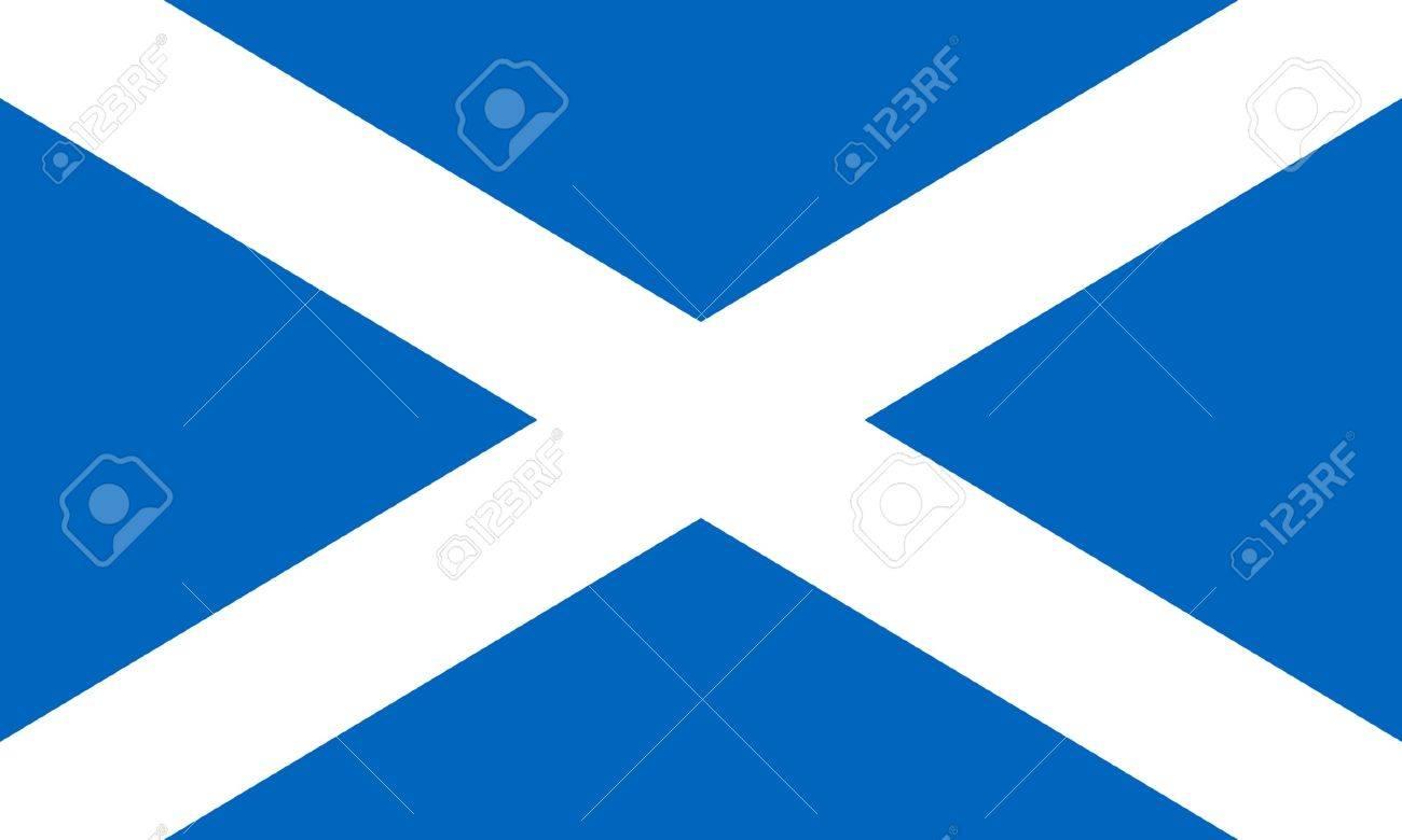 Scotland flag isolated on white background. - 7787717