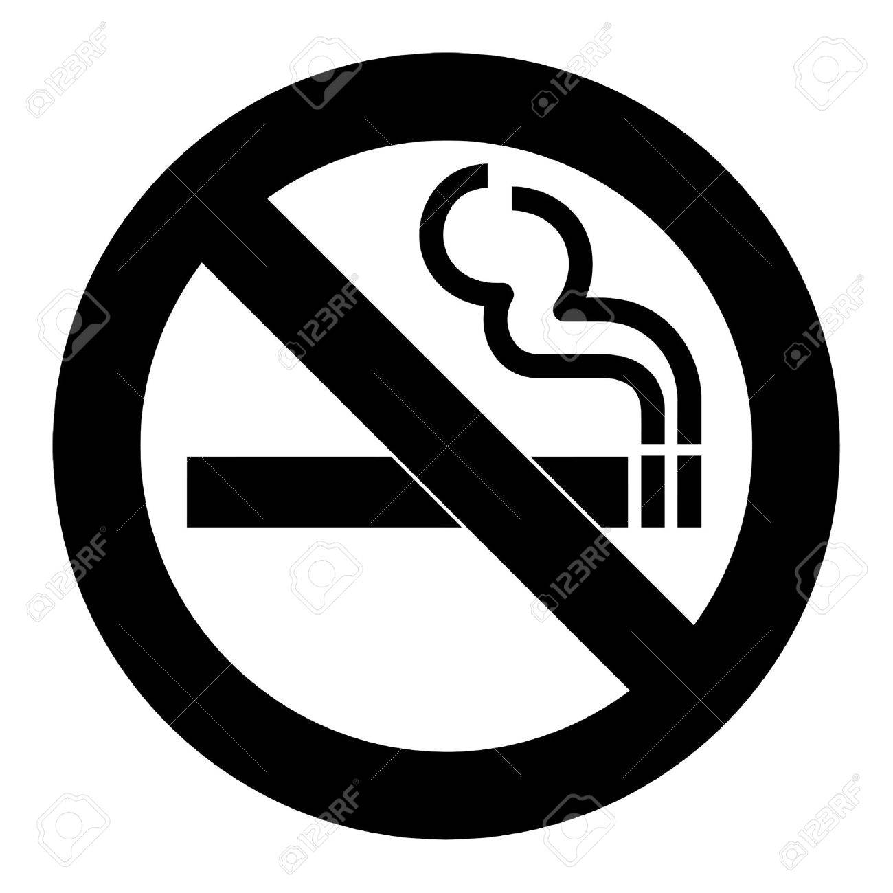 No smoking sign or symbol; isolated on white background. - 9219798