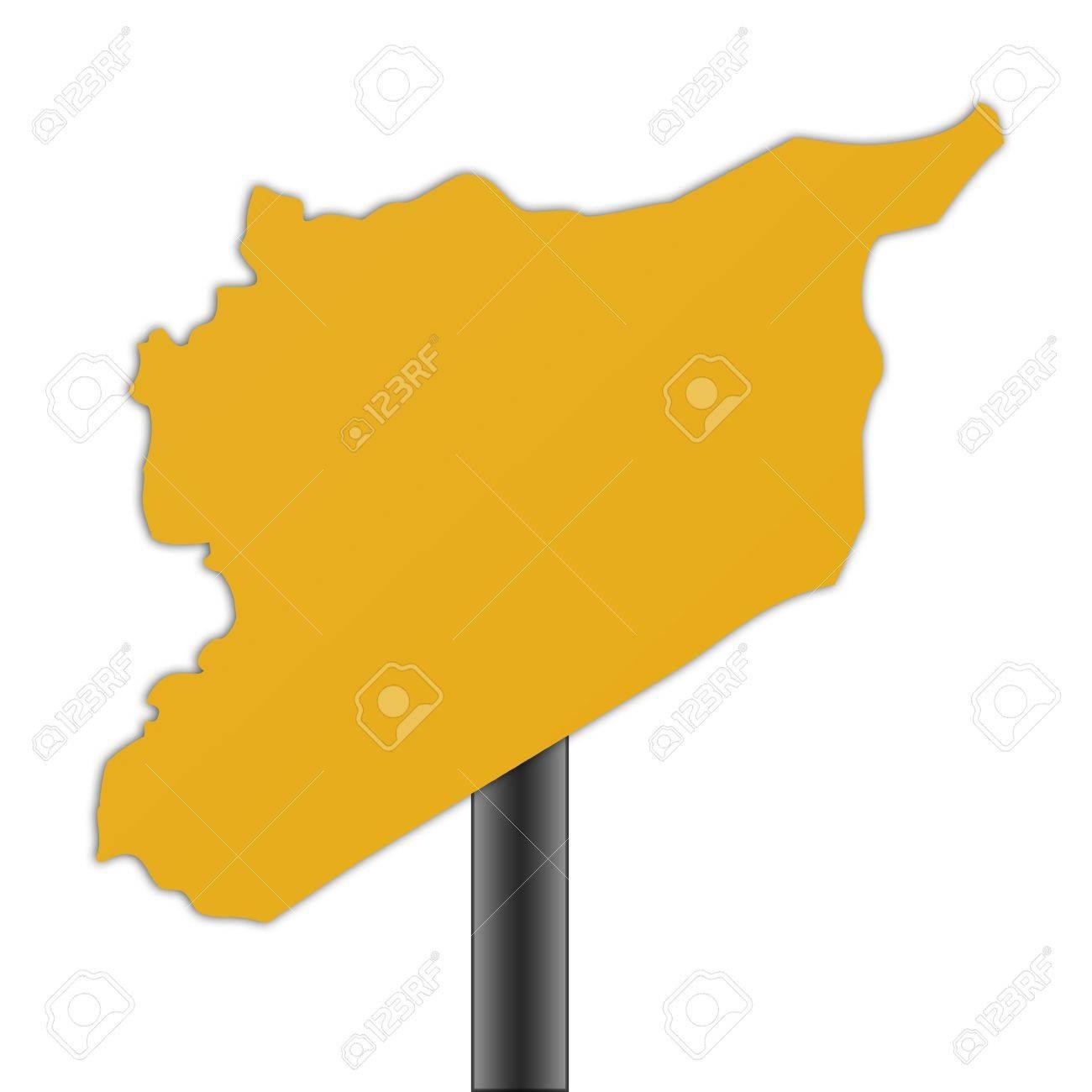 Syrien Karte.Stock Photo