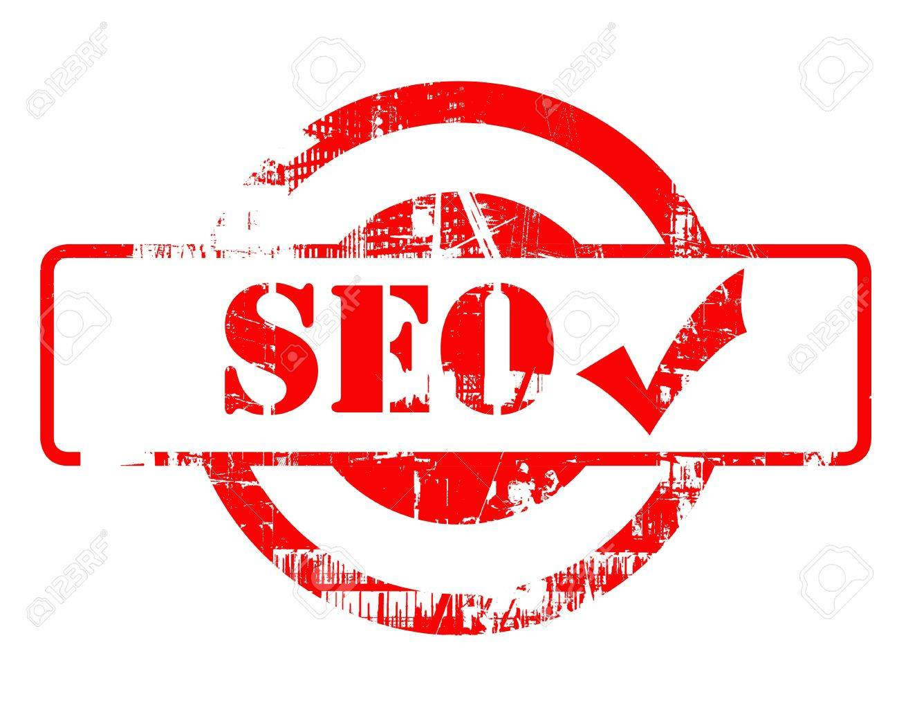 SEO approved red stamp red stamp with copy space isolated on white background. Stock Photo - 15253673