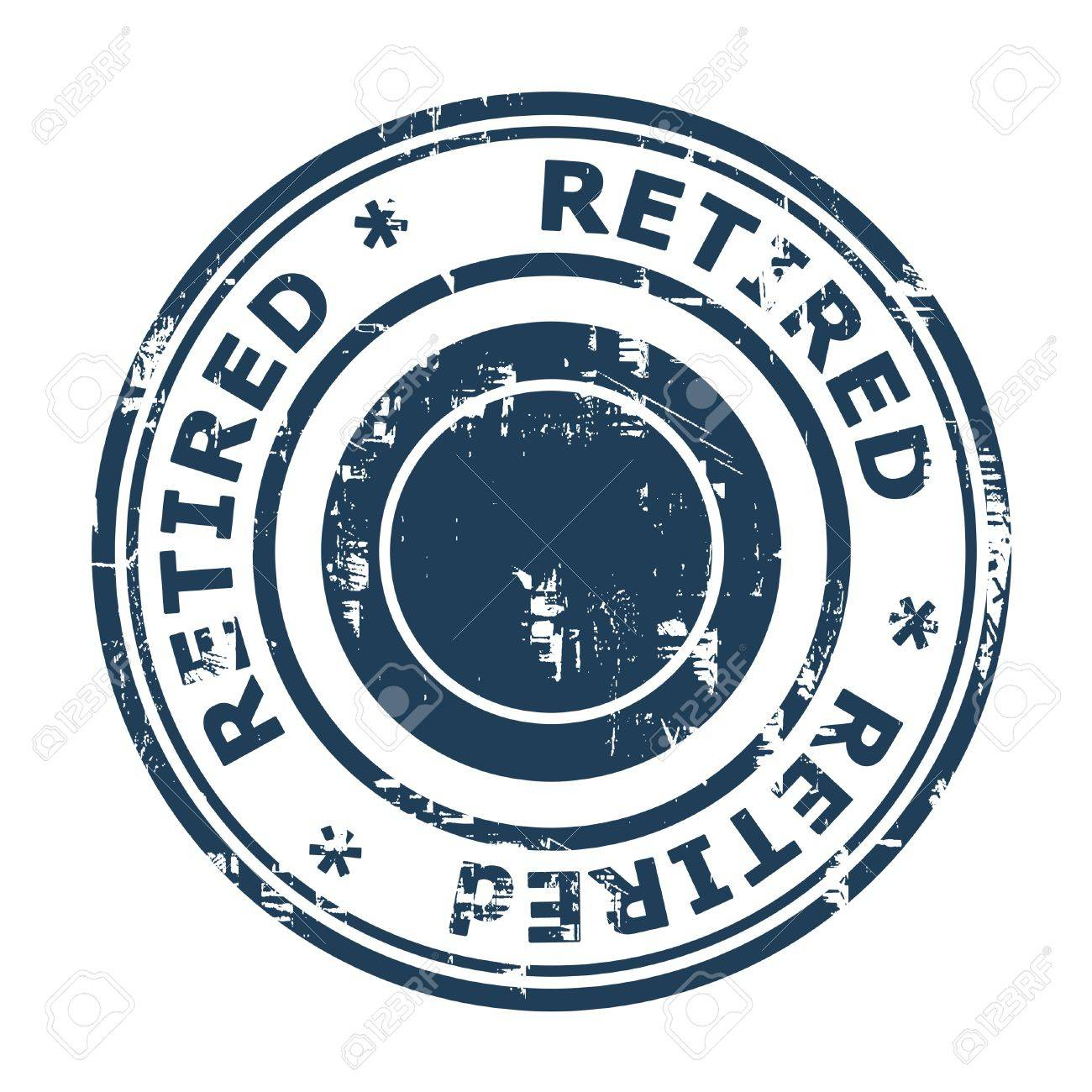 Retired Concept Stamp Concept Stamp Isolated On A White Background ...