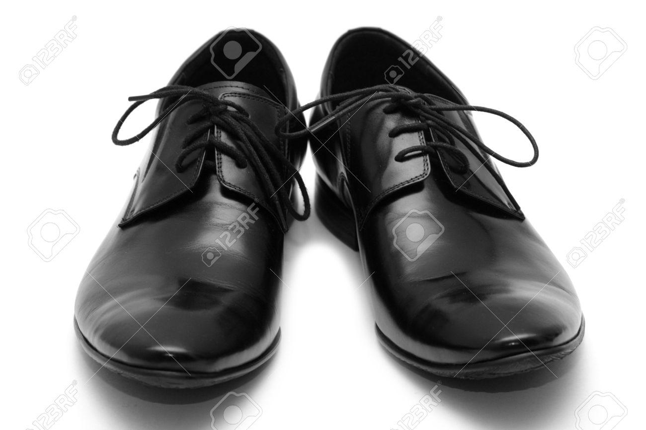 Classic shiny black men's shoes Stock Photo - 6024775