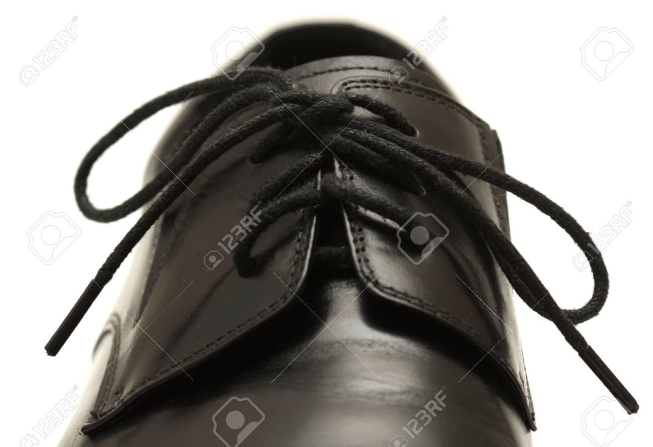 Classic shiny black men's shoe Stock Photo - 6024772