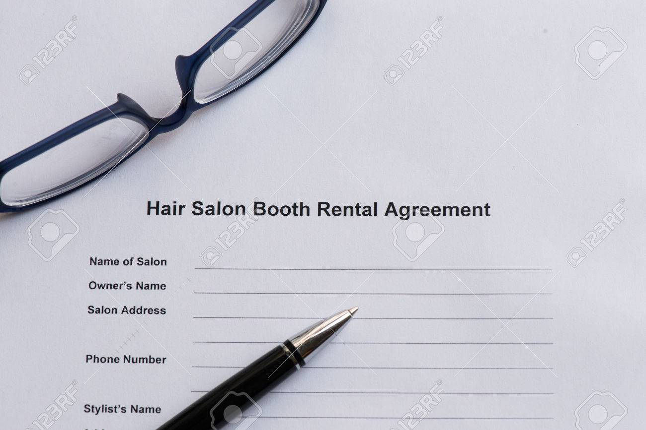 Hair Salon Booth Rental Agreement On The White Paper With Pen – Booth Rental Agreement
