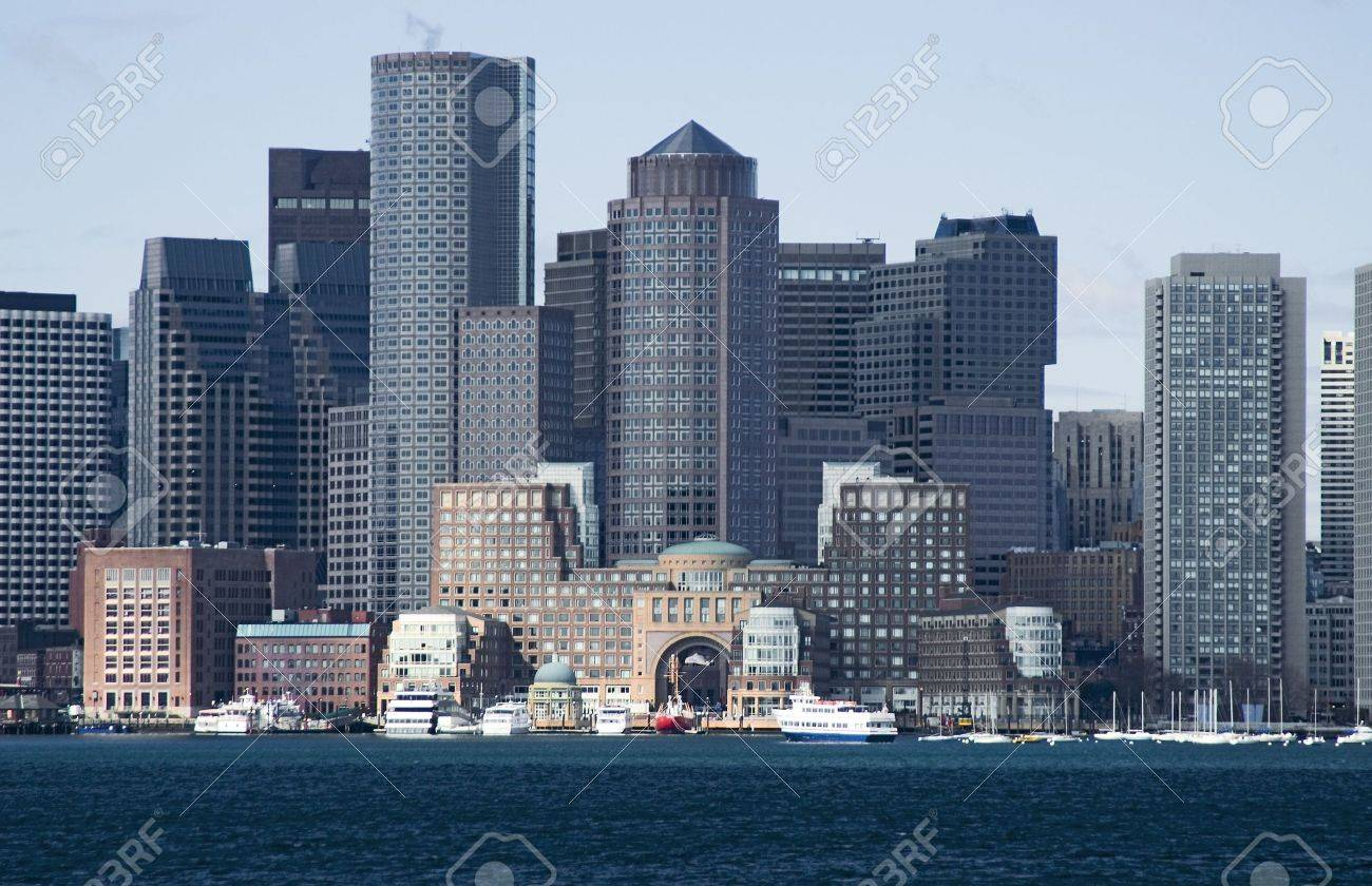 View of Boston downtown from Boston harbor Stock Photo - 6410012