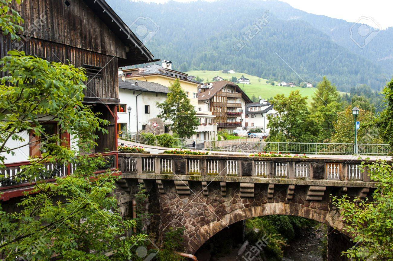 Ortisei In Val Gardena Italy Stock Photo, Picture And Royalty Free Image.  Image 53741577.
