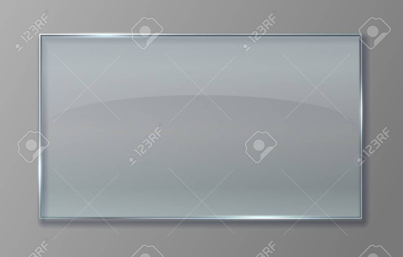 Transparent glass panel  Clear plastic sheet with glossy effect,