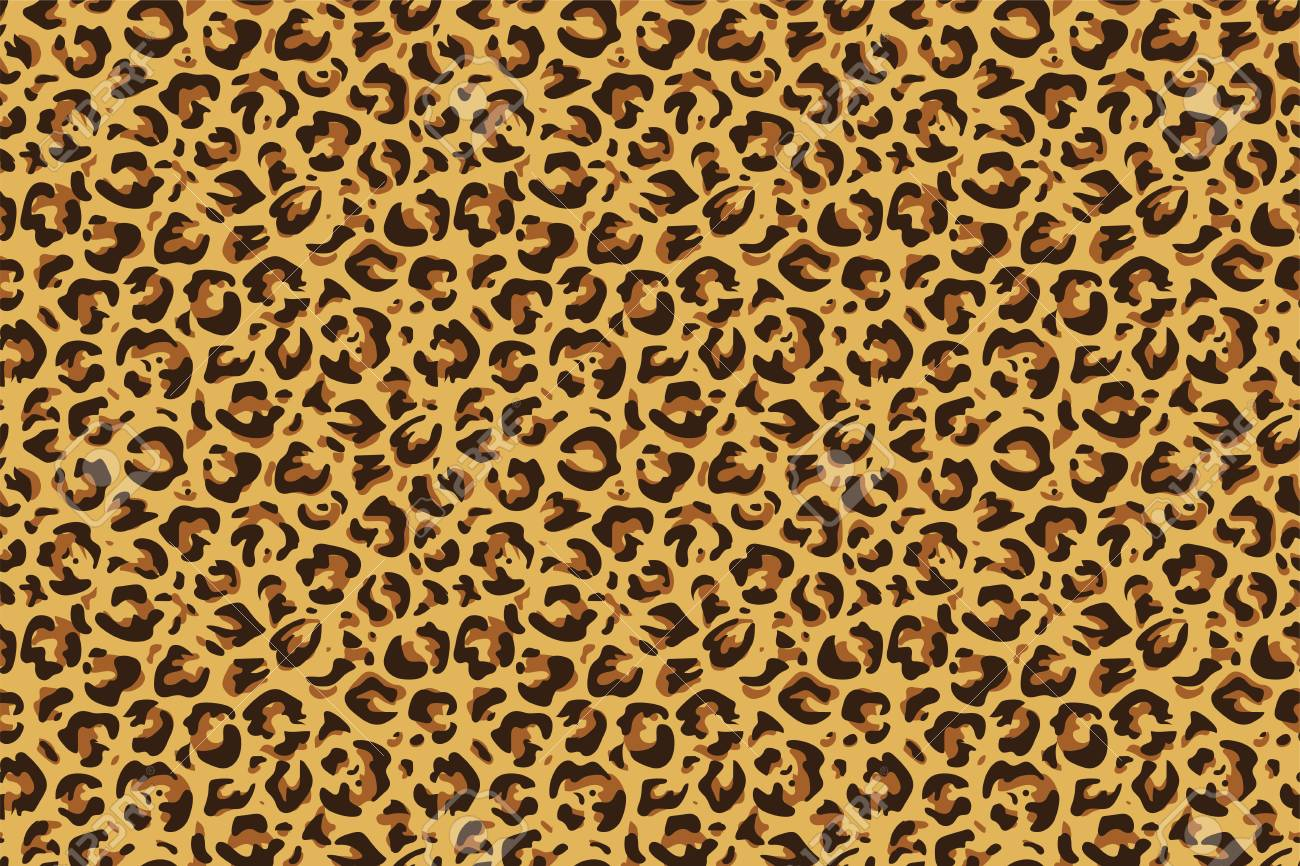 Leopard seamless print. Cheetah jaguar exotic animal skin pattern, luxury fashion wallpaper. Vector textile leopards printing design - 125295918