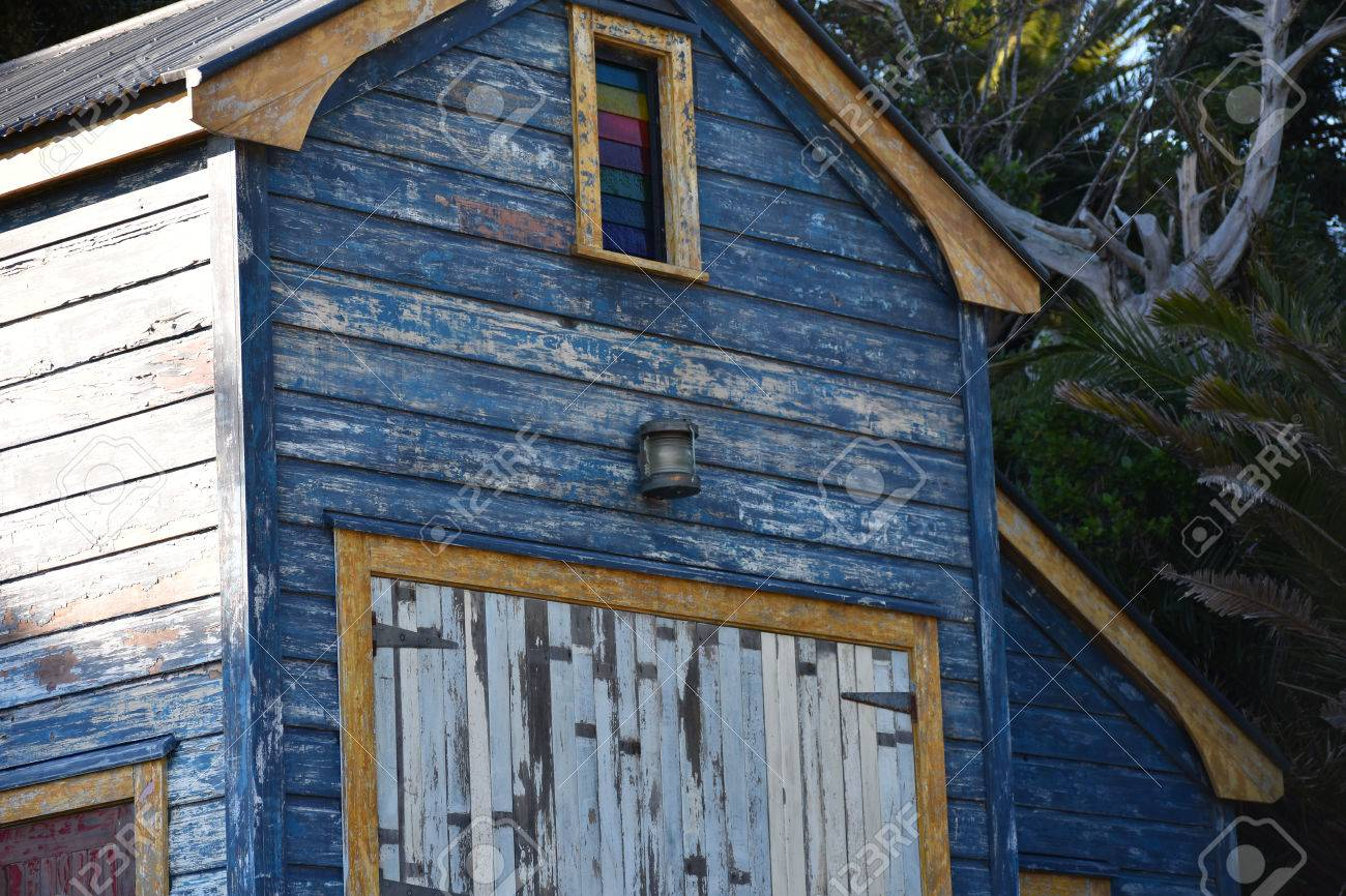 Old Boat Shed With Peeling Paint