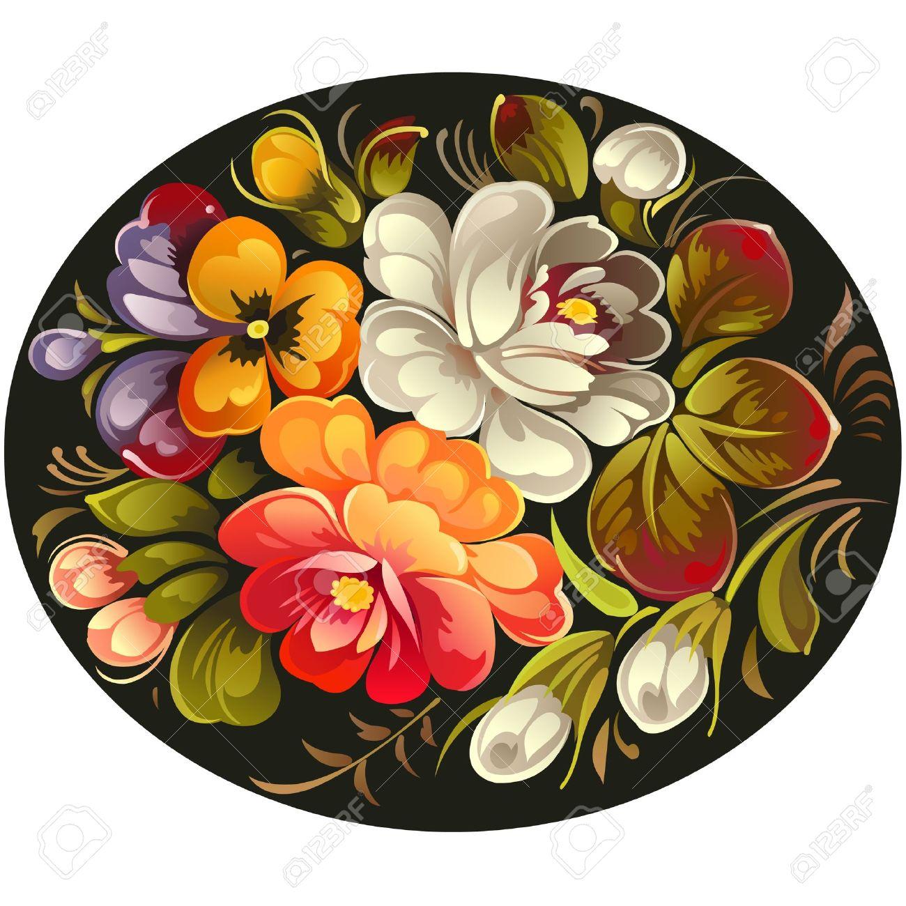Russian flowers Stock Vector - 10364035
