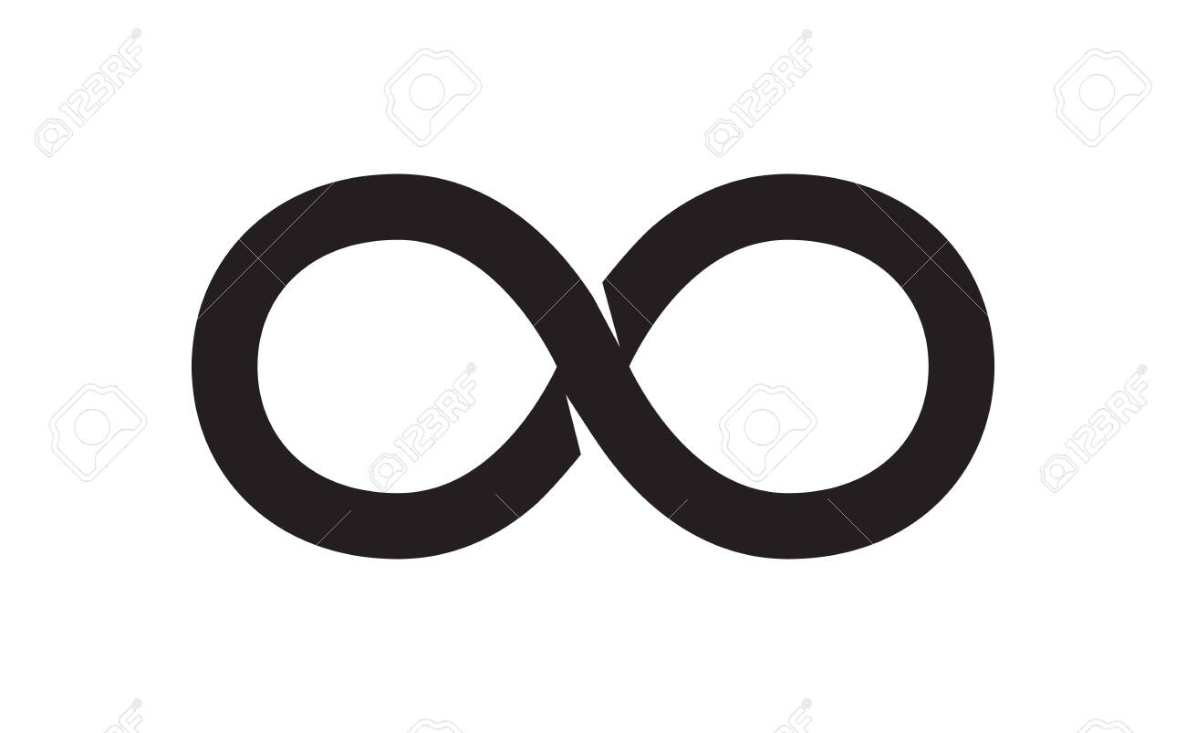 The Black Unlimited Sign. Vector Illustration - 135681908