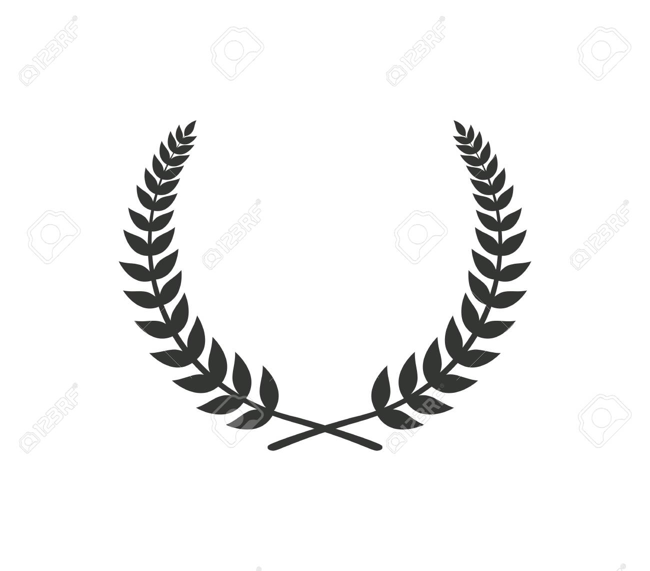 Black Wreath Sign Isolated Vector Illustration Royalty Free Cliparts Vectors And Stock Illustration Image 138260749
