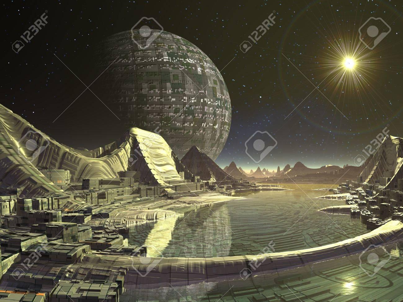 エイリアン衛星都市 の写真素材・画像素材 Image 17585344.