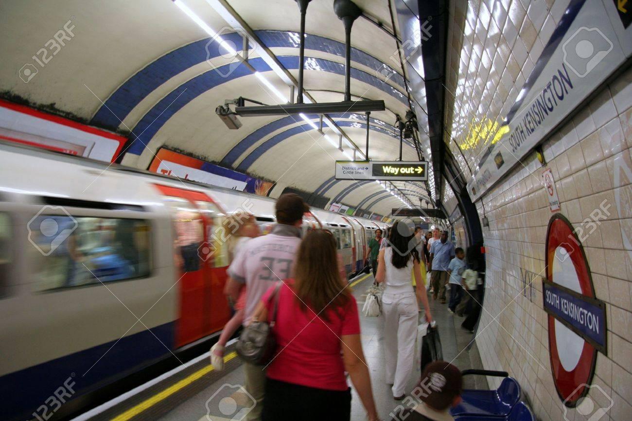 London, England, June 2007 -  Busy underground station Stock Photo - 9774312