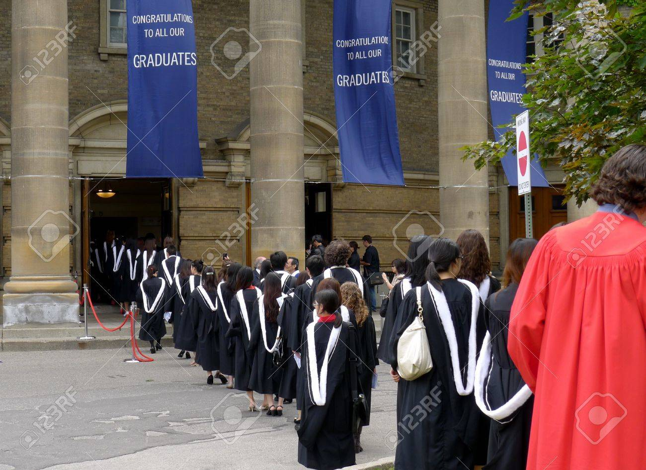 Toronto, Canada, June 2011 - Graduation Procession At The ...