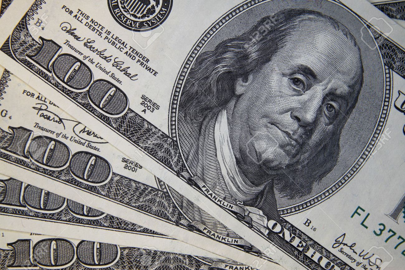 Washington, DC, 2010 - United States Hundred Dollar Bill, with Benjamin Franklin Stock Photo - 11116783