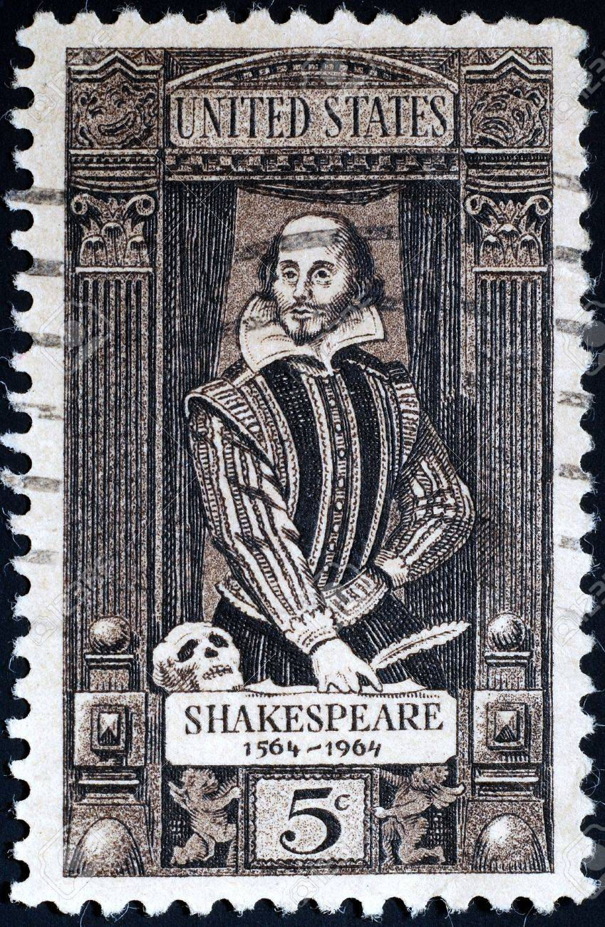 United States, 1964, postage stamp issued to commemorate 400th anniversary of birth of Shakespeare Stock Photo - 11185728