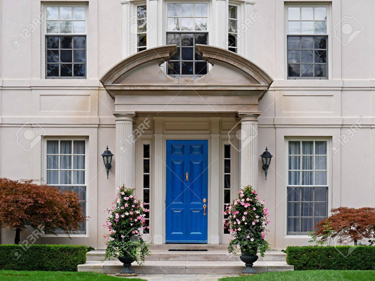 Front door of house with portico and columns Stock Photo - 51990885 & Front Door Of House With Portico And Columns Stock Photo Picture ... pezcame.com