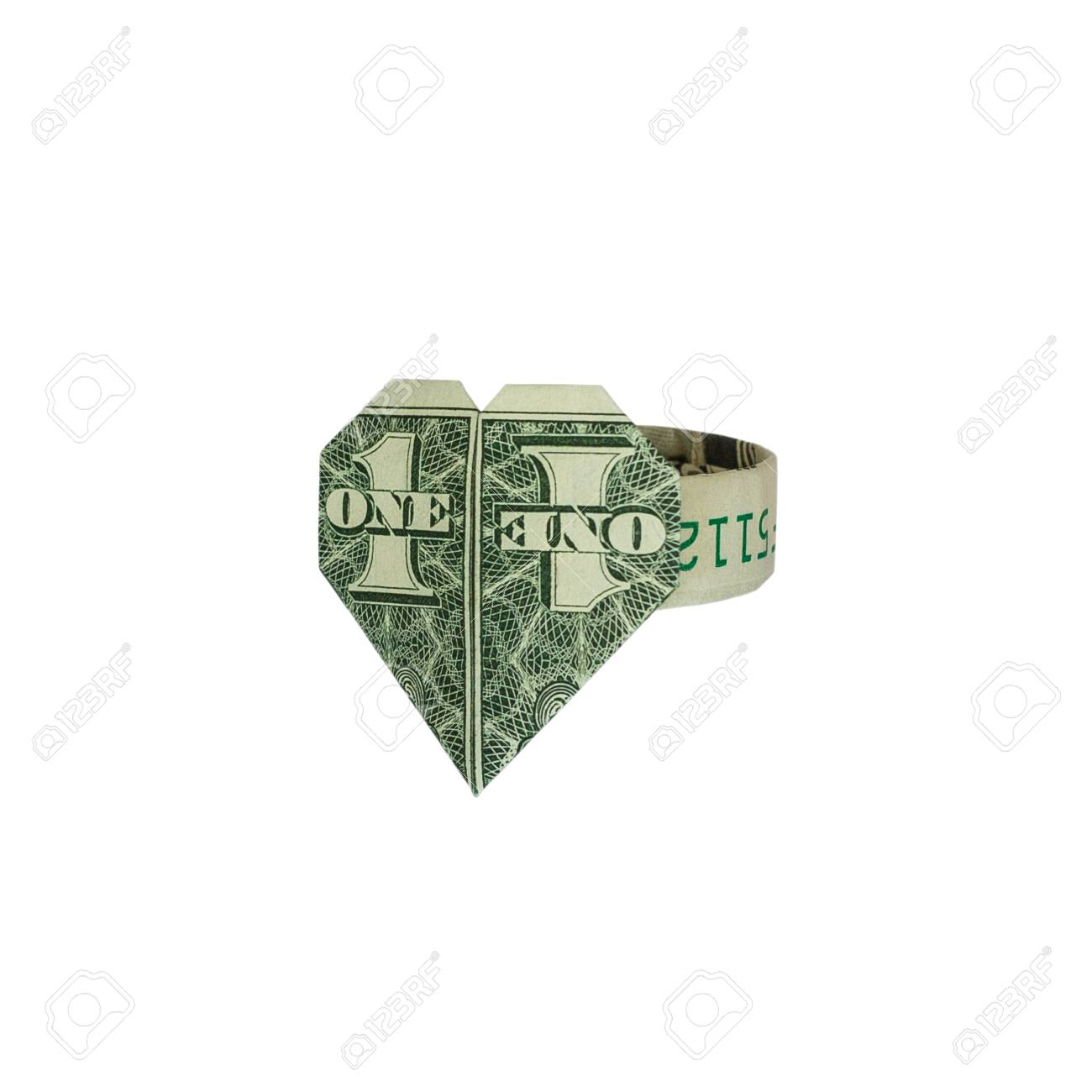 How to Fold a Dollar Into a Heart (with Pictures) - wikiHow | 1300x1300
