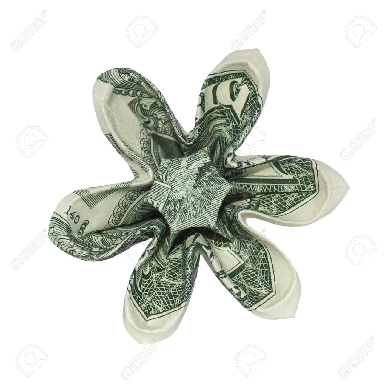 Easy and Beautiful Money FLOWER | Origami Dollar Tutorial ... | 1300x1300